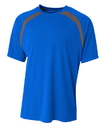 A4 NB3001 Youth Spartan Short Sleeve Color Block Crew