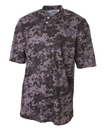 A4 NB3263 Youth Camo Two Button Henley