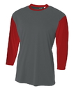 A4 NB3294 Youth 3/4 Sleeve Utility Shirt