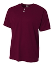 A4 NB4130 Youth Mesh Two Button Henley