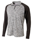 A4 NB4249 Youth 1/4 Zip Long Sleeve Space Dye with Contrast