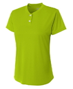 A4 NW3143 Ladies' Two Button Tek Henley