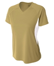 A4 NW3223 Ladies' Cooling Performance Color Block Tee