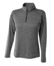 A4 NW4010 Women's Inspire Long Sleeve Tonal Space Dye 1/4 Zip