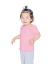 American Apparel 4000W Infant Baby Rib Lap Tee