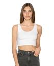 American Apparel 8384W Women's Cotton Spandex Crop Tank