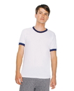 American Apparel BB410W Unisex Poly-Cotton Ringer Tee