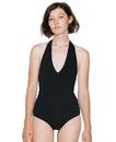 American Apparel RSA8312W Women's Cotton Spandex Halter Bodysuit