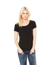 Bella+Canvas 1003 Women's Baby Rib Scoop Neck Tee