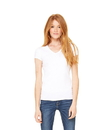 Bella+Canvas 1005 Women's Baby Rib V-Neck Tee