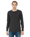 Bella+Canvas 3150 Men's Jersey Long Sleeve Henley