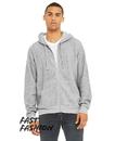 BELLA + CANVAS B3339 Unisex Sueded Fleece Full Zip Hoodie