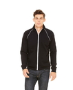 Bella+Canvas 3710 Men's Piped Fleece Jacket