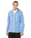 Bella+Canvas 3909 Unisex Triblend Sponge Full Zip Hooded Fleece