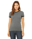 Bella+Canvas 6050 Women's Jersey Ringer Tee