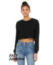 Bella+Canvas B6501 Women's Cropped Long Sleeve Tee
