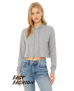 Bella+Canvas B8512 Women's Cropped Long Sleeve Hoodie