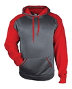 Badger Sport 1468 Adult Sport Heather Fleece Hood