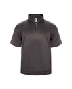 Badger Sport 1482 Adult Polyester Fleece Short Sleeve 1/4 Zip