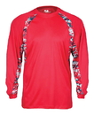 Badger Sport 4155 Adult Digital Hook Long Sleeve Tee