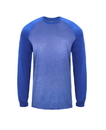Badger Sport 4305 Adult Sport Heather Tonal Long Sleeve Tee