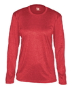 Badger Sport 4364 Ladies' Pro Heather Long Sleeve Tee