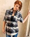 Burnside 5210 Ladies' Plaid Flannel Shirt