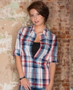 Burnside 5222 Ladies' Plaid Pattern Woven Shirt