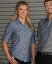 Burnside 5255 Ladies' Chambray Shirt