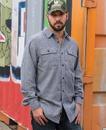 Burnside 8200 Adult Solid Woven Flannel Shirt