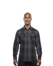 Burnside 8206 Adult Long Sleeve Western Plaid Shirt