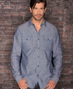 Burnside 8255 Adult Long Sleeve Chambray Shirt
