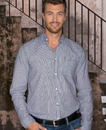 Burnside 8259 Adult Long Sleeve Stretch Stripe Woven Shirt