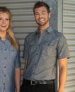 Burnside 9255 Adult Short Sleeve Chambray Shirt