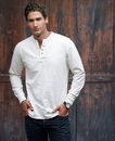 J.America 8244 Adult Vintaged Brushed Jersey Henley