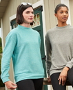 J.America 8428 Ladies' Weekend Mock Neck Terry Crew