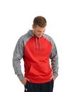 J.America 8612 Adult Cosmic Colorblock Pullover Hood