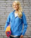 J.America 8665 Ladies' Oasis Wash Full Zip Hood