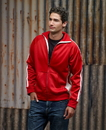 J.America 8858 Adult Vintage Poly Fleece Track Jacket