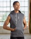 J.America JA8877 Adult Triblend Sleeveless Fleece Pullover Hood