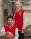 AWDis JHY043 JUST HOODS by AWDis Youth Letterman Jacket