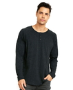 Next Level 6072 Men's Tri-Blend Long Sleeve Henley Tee