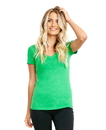 Next Level 6640 Women's CVC Deep V-Neck Tee