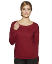Next Level 6931 Women's French Terry Long Sleeve Scoop Tee