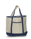 Q-Tees Q01500 Large Canvas Delux Tote Bag