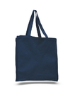 Q-Tees Q125300 Canvas Shopper with Gusset