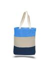 Q-Tees Q125900 Canvas Tri-Color Professional Tote Bag