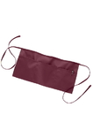 Q-Tees Q2115 Waist Apron with 3 Compartment Pouch