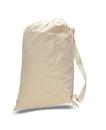 Q-Tees QLB Canvas Drawstring Bag