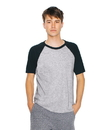 American Apparel RSABB4237W Unisex Poly-Cotton Raglan Short Sleeve Tee